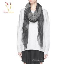 2016 высокое качество кашемир шелковый шарф 100% кашемир шарф кружева