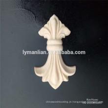 madeira de borracha pequena escultura decorações decorações de madeira rosetas de madeira