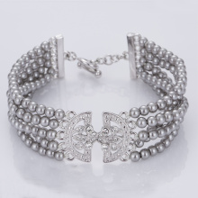Leading for Wholesale Cuff Bracelets Multi Strand Sterling Silver Grey Pearl Bracelet supply to Australia Factory