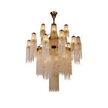 Modern Luxury Customized Upscale Large Pineapple Bead Crystal Chandelier