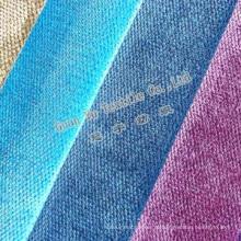 Poliéster / acrílico sofá de veludo / coxim / estofos em tecido (GL-29)