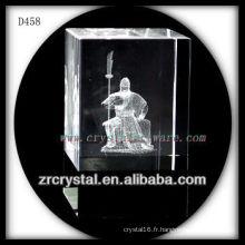 Image suburface de laser de K9 3D à l'intérieur du bloc en cristal