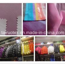 Taslon de polyester de vente chaude pour le sportwear et le tissu de vers le bas de veste