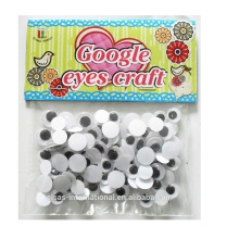 Wiggle plastic animal eyes for toys plastic,diy craft googly eyes