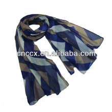 PK17ST292 senhora moda impressão listra voile lenço longo