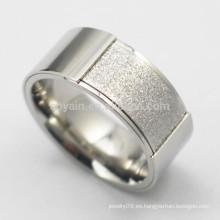 Inusual de acero inoxidable de compromiso de plata de bodas anillos para los hombres