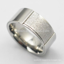 Unusual Stainless Steel Engagement Wedding Silver Rings For Men