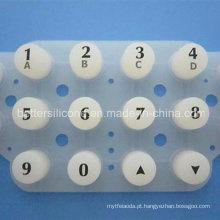 Almofada de botão de membrana de borracha de silicone translúcido