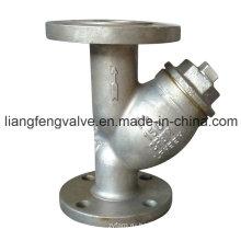 150lb Y-фильтр с фланцевым концом из нержавеющей стали