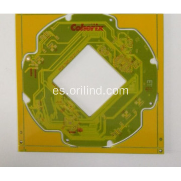 Tablero de pcb de color amarillo