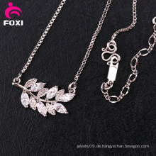 Neuestes Design Edelstein Silber Halskette