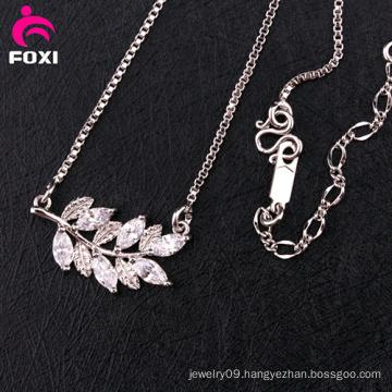 Newest Design Gemstone Silver Necklace