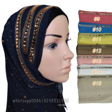 Best selling muslim women head dubai diamond scarf hijab muslim shawl fashion jewel cotton stone hijab