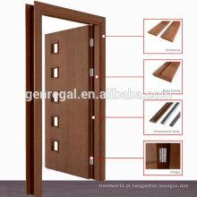 Porta folheado de madeira laminada pré laminada natural