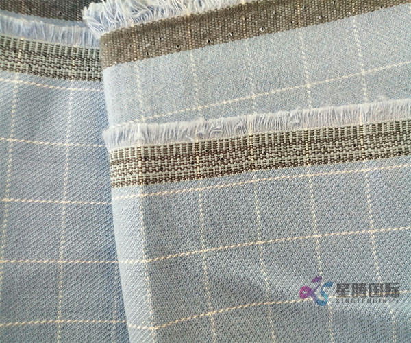 Blue Check Fabric