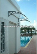 Durable Aluminum Polycarbonate Door Canopy Awnings