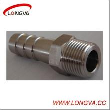 Connecteur d'adaptateur de tuyau en acier inoxydable de qualité alimentaire