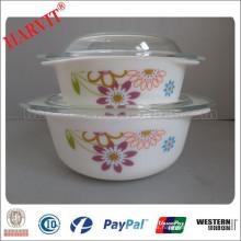 Productos que usted puede importar de China Cuenco de sopa de microondas con tapa Opal Set de cazuela de vidrio