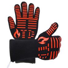 TE1102 chauds gants de four résistant à la chaleur de vente, gant de barbecue pour la cuisson