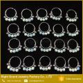 Anneaux de nez de concepteur en acier chirurgical 316L anneaux libres de nez de quatre boules d'opale