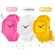Yxl-994 2016 Новый знаменитый бренд Мода Жене желе Кварцевые часы Женщины Тонкие силиконовые наручные часы Relogio женские часы