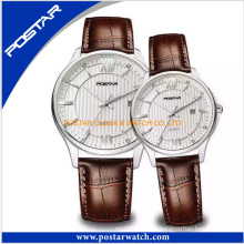 Top Quality Genuine Leather Couple Lover Wrist Branded Watch