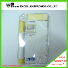 Promocionais Multifuncionais PP Case Sticky Bloco de notas com régua (EP-R9100)