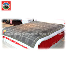 Yak Wool Lattice Blanket/Cashmere Fabric/Camel Wool Textile/Bed Sheet/Bedding