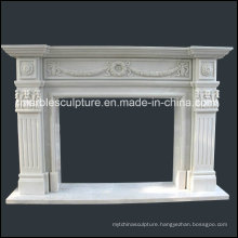 Cheap Popular Hand Carved Marble Fireplace (SY-MF126)