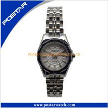 Relógio de quartzo de movimento de Japão de senhoras todo o relógio suíço de aço inoxidável