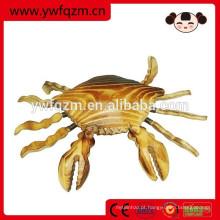 Caranguejo de ornamento animal de madeira barata