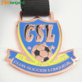 Soccer+Metal+Medal+of+Honor+With+Plating