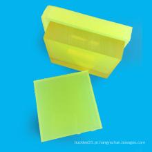 Folha plástica personalizada do plutônio da borracha NBR da dureza