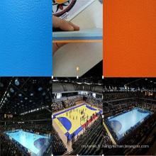 Chine Plancher de sports de PVC de vente de Facroty pour le terrain de Handball / Volleyball