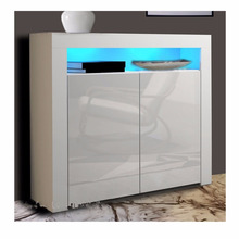 Modern Cabinet Cupboard sideboard - Matt Body and High Gloss Fronts , LED Light