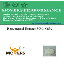 Extrait de plantes naturelles - extrait de resvératrol 50%, 98%