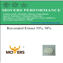 Extrato de plantas naturais - extrato de resveratrol 50%, 98%
