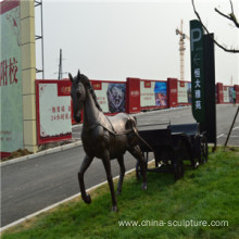 simulation fiberglass animal sculpture-carriage