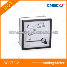 72*72mm Novel design analog panel meter 1ma class 1.5