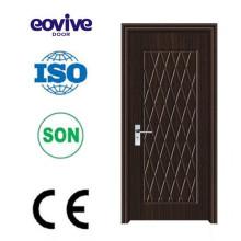Porta de madeira do projeto quente do pvc porta de dobradura