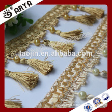 2016 Stock Product Cheap Big Bargain for sofa curtain of Handmade Beaded Tassel Fringe