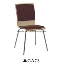 Cuero barato y cómodo que cena la silla del capítulo de acero