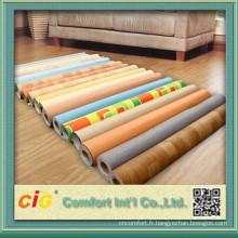 Plancher en vinyle résistant avec le prix concurrentiel, PVC Lino