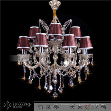 Commcommercial Messing Kristall Kerze Kronleuchter Licht in Zhongshan