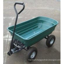 75L Garden Cart Heavy Duty 4 Wheel Trolley Dump Wheelbarrow Tipper Trailer Tipping Truck
