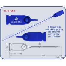 selo de companhia aérea BG-S-006, selo de plástico