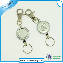 Hot Design Chrome Plated Custom ID Badge Reel