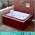 Luxury Double Person Jacuzzi Bathtub with Wood Skirt (TLP-666-Wood Skirt)