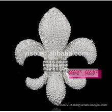 Broche de cristal de liga de flor de lis de estilo coreano