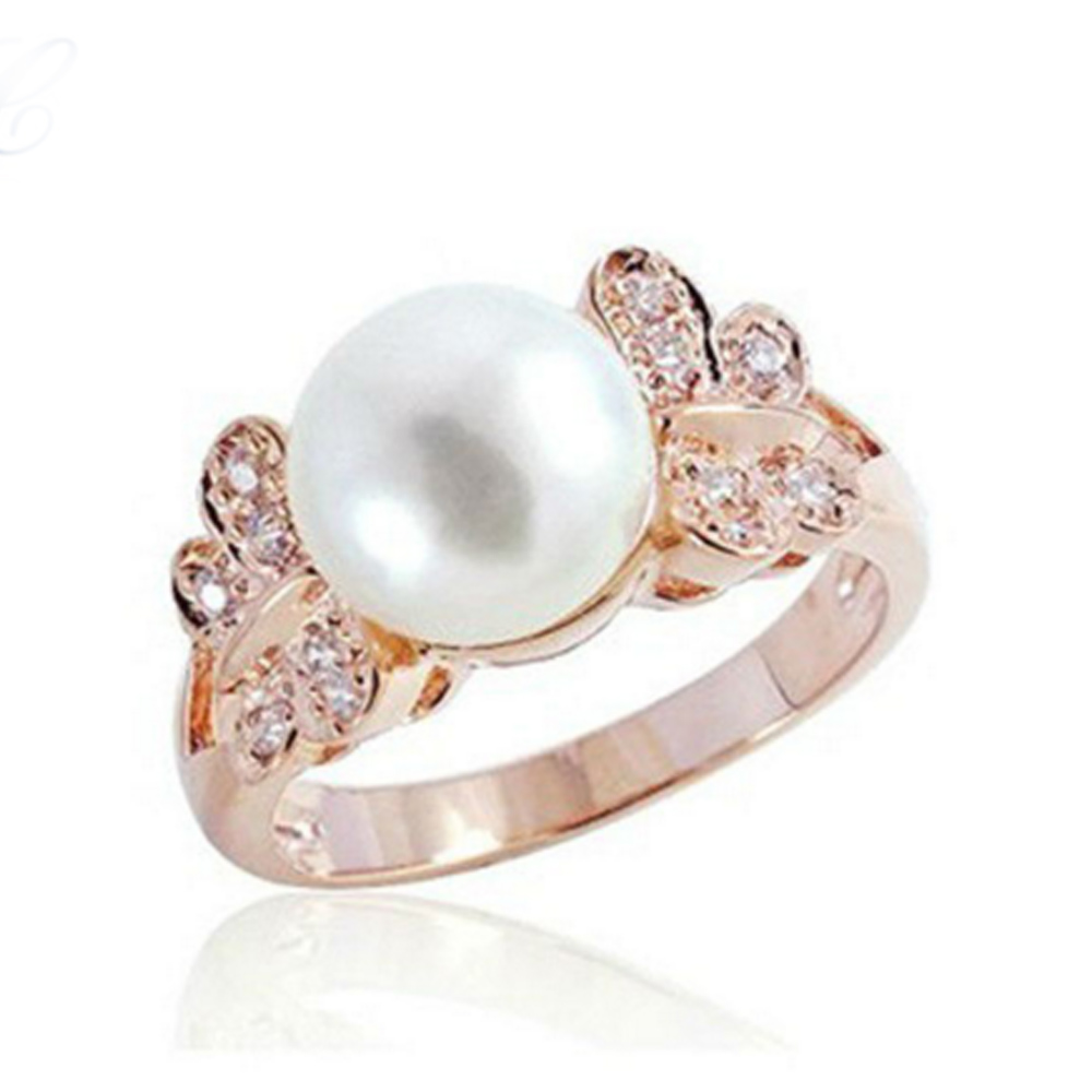 Fashion Pearl Wedding Rings